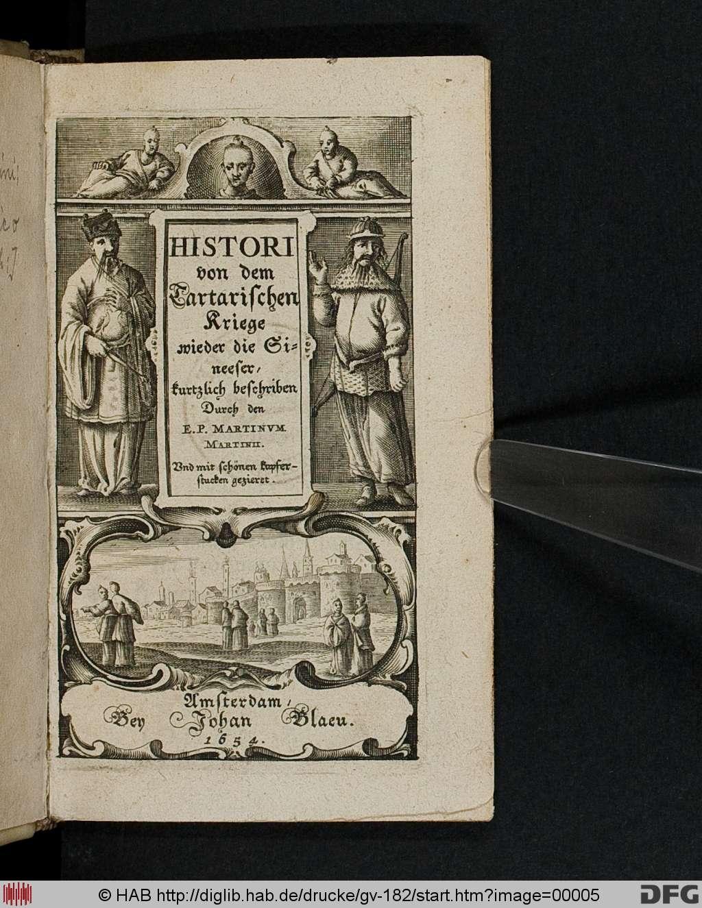 Martino Martini: Histori von dem Tartarischen Kriege ... (1654)