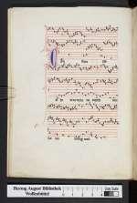 Organa, conductus, moteti (W2), Frankreich, 13. Jh. (Cod. Guelf. 1099 Helmst., 6v)