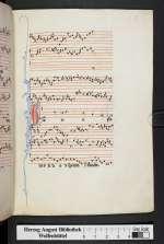 Organa, conductus, moteti (W2), Frankreich, 13. Jh. (Cod. Guelf. 1099 Helmst., 7r)
