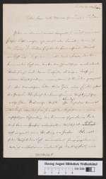 Cod. Guelf. 330.1 Noviss. 8° — Anna Vorwerk: Brief an ihre Familie in Braunschweig — Berlin, 1861