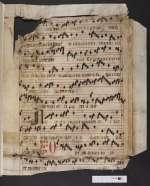 Pgt. Frgm. 1 — Antiphonale officii — Nordwestdeutschland — 15. Jh., 2. Hälfte