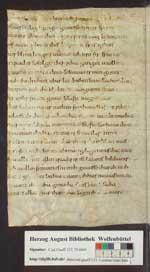 Otfrid: Evangelienbuch. Fragment, Mainz (?), 9. Jh., Anfang (Cod. Guelf. 131.1 Extrav., 9v/10r)
