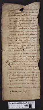 Cod. Guelf. 404.8.3 Novi (4) — Lectionarium, Fragment — 9. Jh.