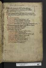 Ps.-Clemens I papa; Passiones et vitae sanctorum, Lamspringe, 12. Jh., 4. Viertel (Cod. Guelf. 475 Helmst., 1r)