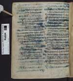 Cod. Guelf. 64 Weiss. — Isidorus Hispalensis: Etymologiae - Palimpsestierte Fragmente darunter Paulus-Briefe gotisch-lateinisch (Codex Karolinus) — Bobbio, 8. Jh., 1. H.