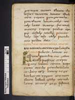 Hieronymus: Martyrologium, Weißenburg, um 800/9. Jh., Anfang (Cod. Guelf. 81 Weiss., 50v)