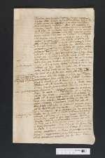 V S 447b — Brief — Köthen, 17. Jh.