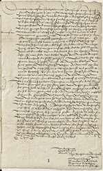 Reg. O 313, fol. 1r-v — Theologische Fakultätsdozenten an Kurfürst Friedrich III. von Sachsen — Wittenberg — 23. Februar 1519