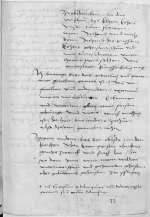 Reg. O 209, fol. 71r-v — Bedenken Andreas Karlstadts zu den jurisdiktionellen Zuständigkeiten und einer Besetzungsfrage am Wittenberger Allerheiligenstift , — [Wittenberg] — [zwischen 1516, 31. August und 1517, 18. Juni]